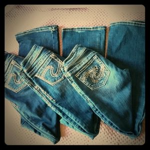 3 Pairs Of Silver Jeans Size 25 &26